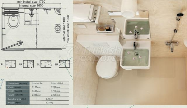Unit Bathroom BM-1116